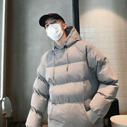 Mens Casual Warm Hooded Pullover Down Coats Thicken Winter Loose Outwear Outdoor