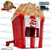6.6x6.6ft Inflatable Popcorn Food Concession Stand Tent Booth With Air Blower
