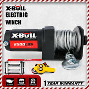 X-bull 3000lbs Electric Winch Utv Atv Truck Trailer Synthetic Towing 4wd 12v