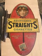 Very Rare1907 Authentic Original Egyptienne Straights Cigarette Flange Sign