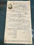 Holocaust 1939 Pictured Health Card For Immigration From Poland Unusual And Rare