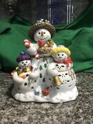 Partylite Snowbell Snowman Tealight Holder Beautiful Never Used Free Shipping