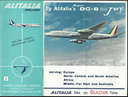 Alitalia Italian Airlines System Timetable 8/1/63 [9101] Buy 4+ Save 25