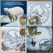 Complete Set Of Canadian Mint 50 For 50 Face Value Fine Silver Coin Lot Of 4