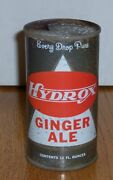Ultra Rare Pre-zip Code 1st Generation Hydrox Ginger Ale Soda Can Flat Top