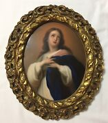Antique Kpm Germany Porcelain Plaque - The Immaculate Conception 10andrdquo X 8andrdquo
