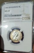 Ngc Bahamas 5 Cents 1966 Graded Ms 65 This Coin Is Gorgeous