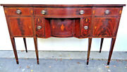 Superb 1930and039s Elegant Flame Mahogany Server With Inlays Grand Rapids Excellent
