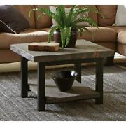 Cube Coffee Table Brown Reclaimed Wood Rustic Farmhouse Furniture 27 New