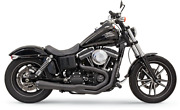 Bassani Road Rage Ii Mega Power 2-into-1 Black Exhaust System For Dyna 1d32rb