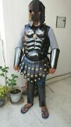 Medieval Armor Jacket With 300 Helmet And Arm Armor Guard Reenactment Costume