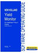 New Holland Yield Monitor For Intelliview Plus Ii Display V25 Operator`s Manual