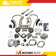 Timing Chain Kit Oil Pump Water Pump Solenoid Fit 04-06 Buick Cadillac 3.6l