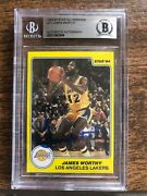 1983-84 Star All-rookies 10 James Worthy Autographed Signed Beckett La Lakers