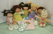 Lot Of 6 Cabbage Patch Kids From 1978-83 To 2004 Dolls W/ Accessories Ships Free