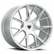 22 Blaque Diamond Bd-f18 Silver Forged Wheels Rims Fits Benz S400 S550 S600