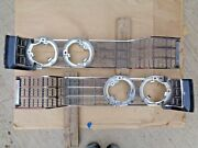 Nos 1969 Chrysler New Yorker Grille Halves Original Pair Town And Country