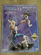 Sideshow Collectibles Spiral Vs Psylocke Exclusive Diorama Statue Marvel Sample