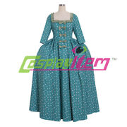 18th Century Rococo Dress Marie Antoinette Colonial Blue Gown Dress Costume