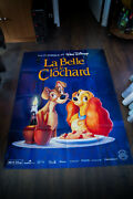 Lady And The Tramp Walt Disney 4x6 Ft French Grande Poster Rerelease 1997