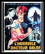 The Awful Dr. Orlof 4x6 Ft Vintage French Grande Original Movie Poster 1961