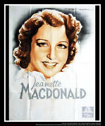 Mgm Jeanette Macdonald 4x6 Ft French Grande Movie Poster Original 1930and039s