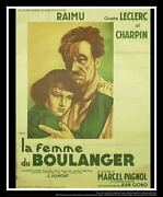 The Bakerand039s Wife On Linen B 4x6 Ft French Grande Movie Poster Original 1938