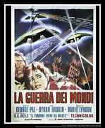 The War Of The Worlds 55 X 78 Italian Four Sheet Movie Poster Rerelease 1960