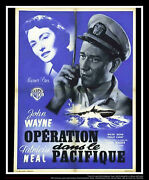Operation Pacific 24 X 32 French Moyenne Fold Movie Poster Original 1951