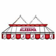 Alabama Crimson Tide Mvp 40 Stained Glass Pool Table Lamp