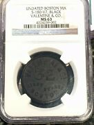 1866 Boston Ma Valentine And Co Varnishes Ngc Ms63 S-180-v7 Advertising Token