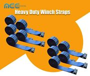 10 Pack 4 X 30and039 Winch Strap W/ Flat Hook Flatbed Truck Trailer Tie Down Strap