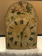 Early German Wag On The Wall Or Tall Case Clock Movement And Dial For Parts