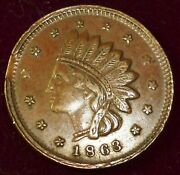 Not One Cent Us 1863 Token