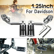 2x Footrest Motorcycles Highway Foot Pegs 1-1/4 Bars Clamps For Harley Dyna Wym
