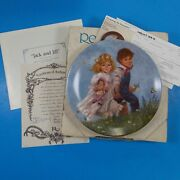 Reco Jack And Jill Collectors Plate 1986 With Coa 4887g