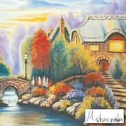 Michael Sharinski Beckyand039s Cottage Limited Edition Mixed Media Hand Signed. New