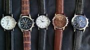 Set Of 5 New Menand039s Watches. Ships From U.s. 10 Free Spare Batteries Lot 749572
