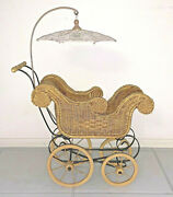 Vintage Childand039s Toy Doll Stroller Baby Carriage Possibly Vintage Reproduction