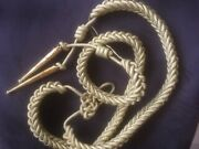 Aiguillette In Gold Mylar With 2 Metal Tips