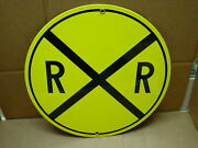 Heavy Enameled Porcelain Sign Rr Railroad Crossing Sign Aaa Sign Company 11 3/4