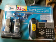 Atandt E2662b 2-line Expandable Phone System W/answering And 2 Cordless Handsets
