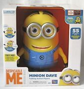 Despicable Me Minion Dave Interactive Talking Action Figure 55 Sayings And Farting