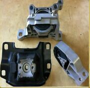 3pc Engine And Transmission Mount For 2013-2016 Ford Escape Suv 1.6l Automatic