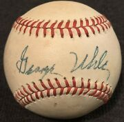Rare George Uhle Died 1984 Psa/dna Signed Baseball Yankees Giants Indians Tigers