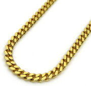 Mens Womens 10k Yellow Gold 5mm Solid Miami Cuban Link Chain Necklace 20 - 28