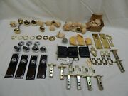 New Old Stock Antique Door Knobs Hasps And Hardware Gold And Silver