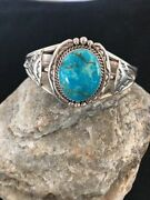 Rare Sterling Silvermens Bracelet Turquoise Clearance Sale Navajo Gift A138