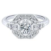 Gabriel And Co Adore Vintage Engagement Ring