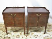 Georgian Pair High-end Baker Furniture Mahogany Commodes/nightstands Mint